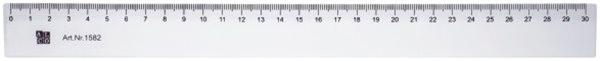 Lineal 30 cm, transparent, flexibel Alco