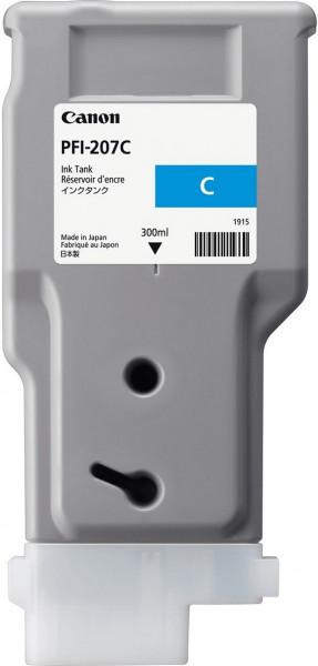 Original Tinte Canon PFI-207C, 300 ml, cyan