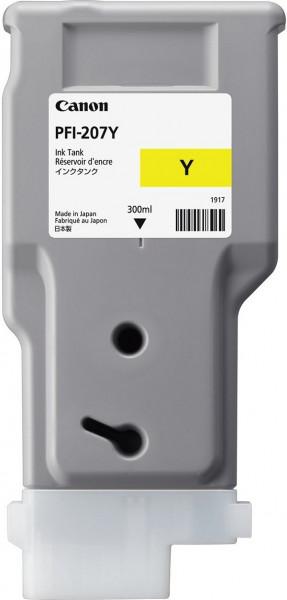 Original Tinte Canon PFI-207Y, 300 ml, gelb