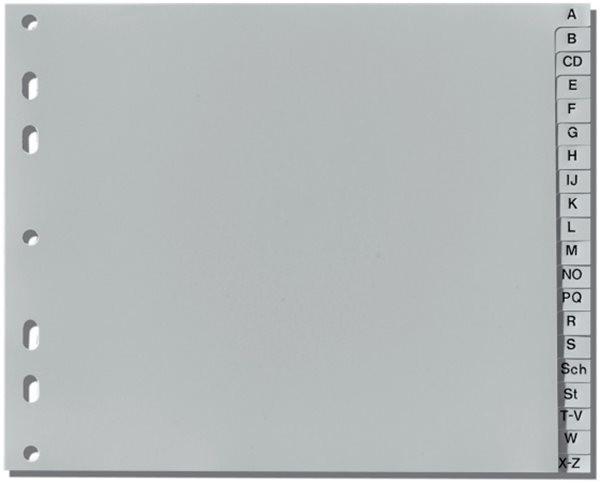 Register A-Z A4 1/2 Höhe Plastik PP-Folie Herlitz, 225x180mm, Eurolochung