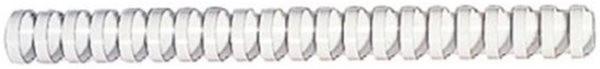 Plastik-Binderücken für 340 Blatt (38mm) weiß Fellowes US-Teilung = 21 Ringe