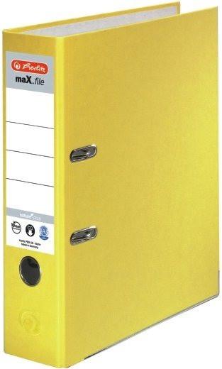 Ordner A4/8cm Pappe gelb Herlitz maX.file nature plus mit Kantenschutz