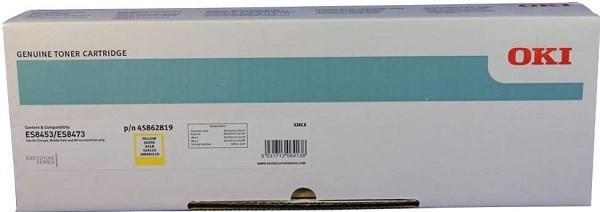 Original Oki Toner 45862819 (z.B. ES 8453). gelb